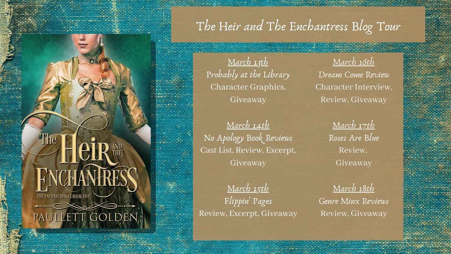 Blog Tour Details - The Heir and the Enchantress