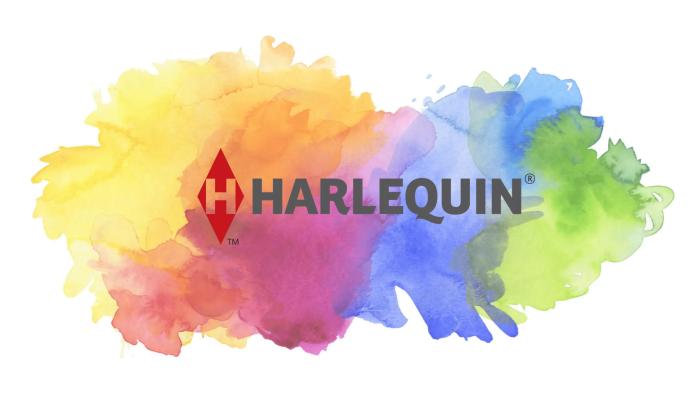 Harlequin Watercolor Logo